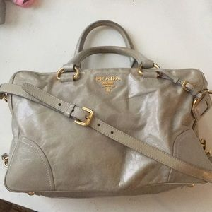 PRADA bag Gray Excellent Used Condition